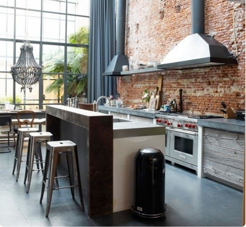 Arreda la tua casa con le cucine stile industrial chic for Costruisci la tua casa in california