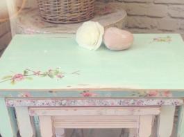 Decoupage mobili: tavolini