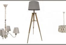 lampadari lampade e piantane shabby