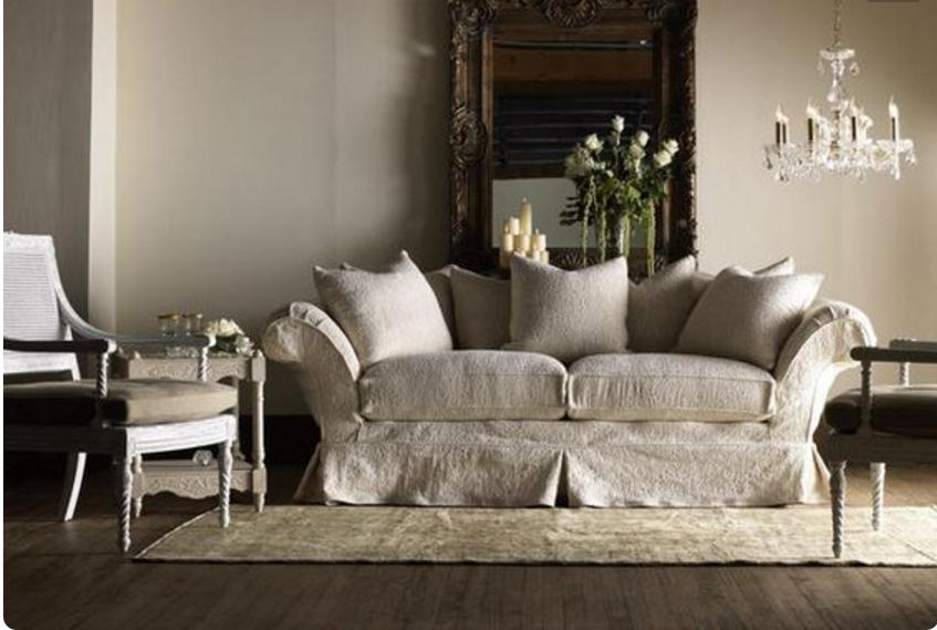 I divani color tortora sono meravigliosamente shabby chic