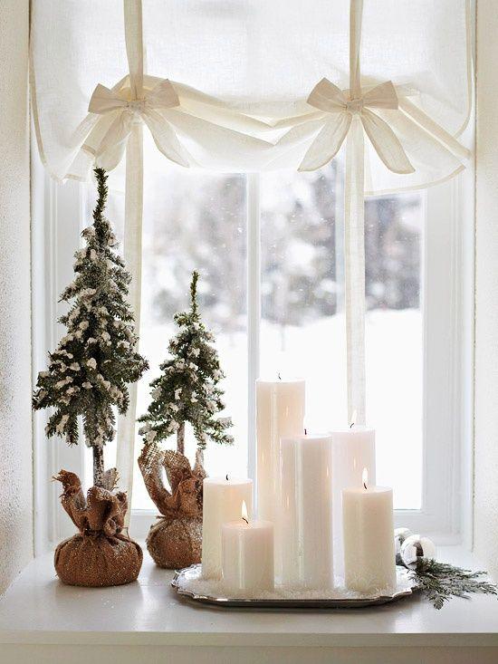 spesso Idee per decorare le finestre in stile Shabby a Natale JI77
