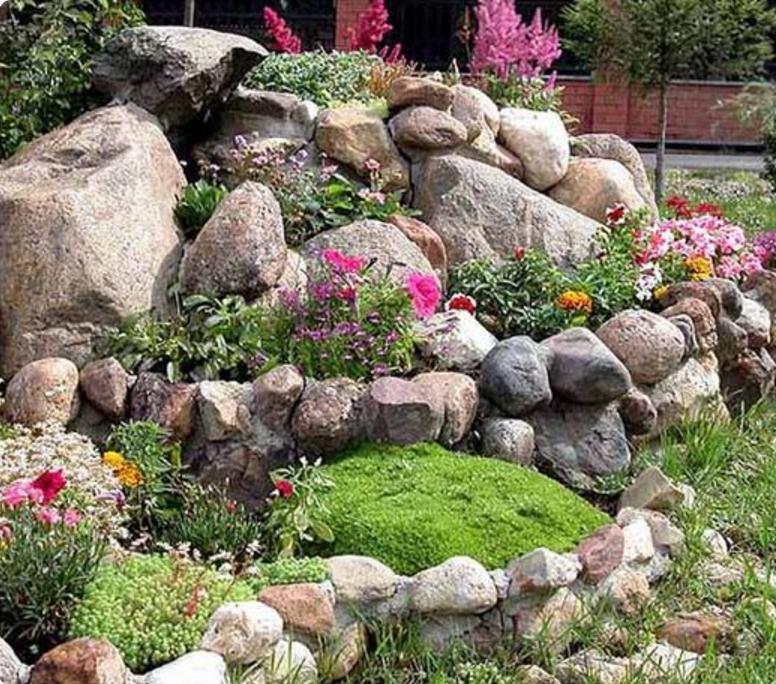 Estremamente Nei giardini rocciosi le piante grasse ed i fiori regnano sovrani EM67