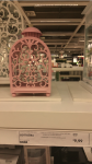 Lanterna ikea: rosa con decori arabesque