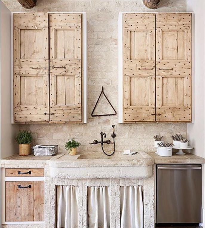 I lavelli della cucina in pietra per un angolo cottura shabby - Top cucina pietra naturale ...