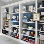 libreria billy colore azzurro