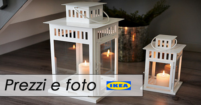 lanterne ikea ecco quelle in stile shabby foto e prezzi. Black Bedroom Furniture Sets. Home Design Ideas