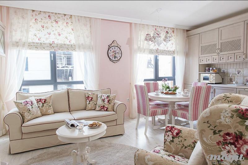 Mini appartamento provenzale cosa si pu creare in 47 mq for Planimetrie della sala da pranzo della cucina aperta