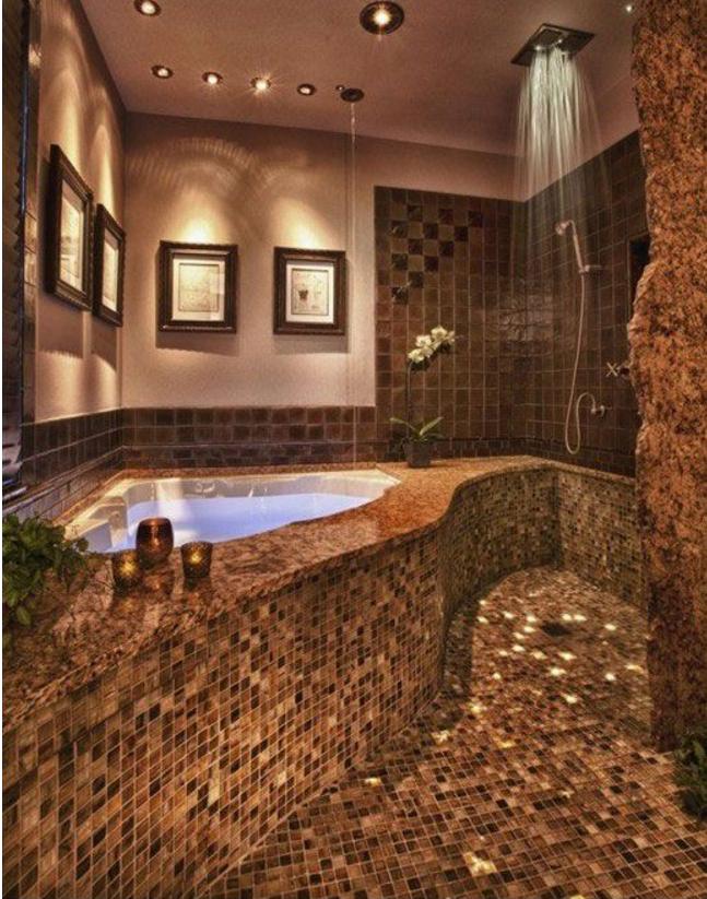 Il bagno moderno con il mosaico potrebbe essere un'ottima soluzione
