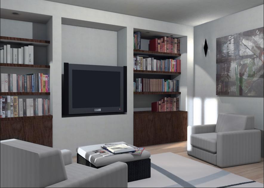 Realizza in casa pareti attrezzate in cartongesso e legno - Parete attrezzata grigia ...