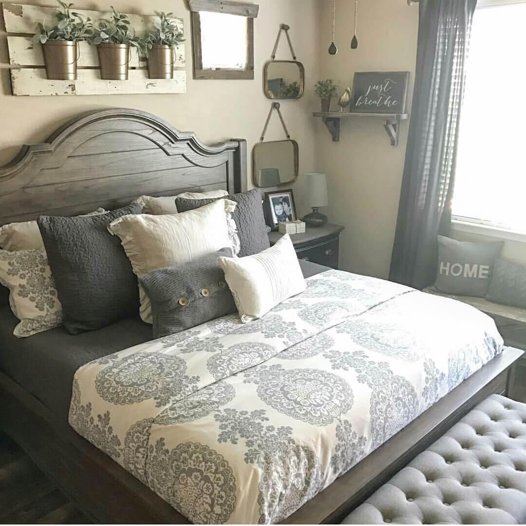 21 modi per arredare la camera da letto in stile shabby (foto) - Arredare Parete Camera Da Letto