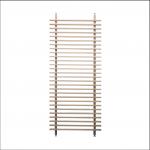 parete divisoria di legno vista