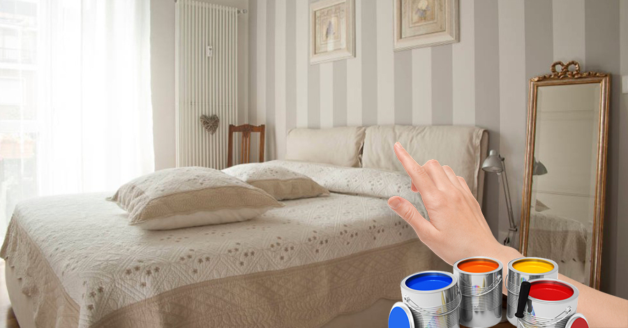 Come dipingere le pareti a strisce orizzontali o verticali - Dipinti camera da letto ...