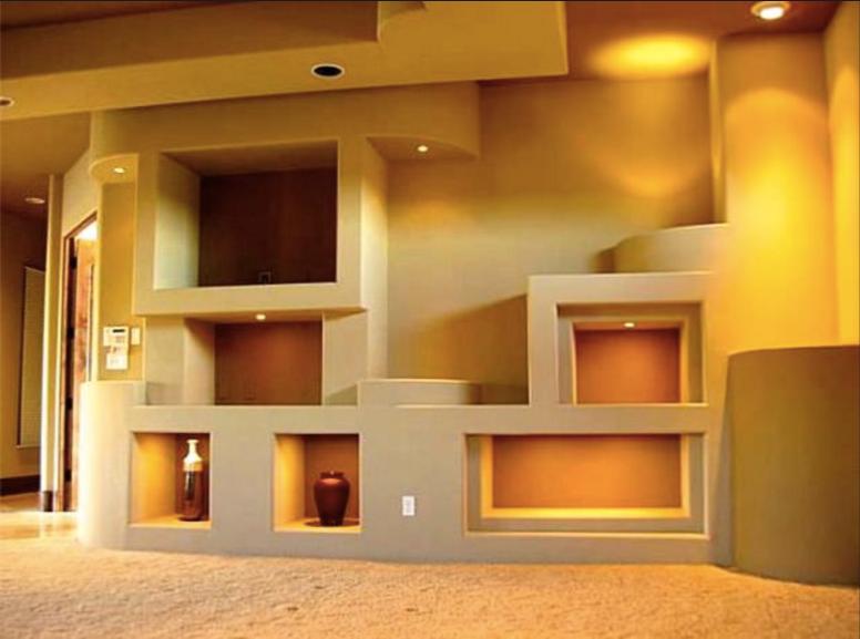 Realizza in casa pareti attrezzate in cartongesso e legno - Parete mobile in cartongesso ...