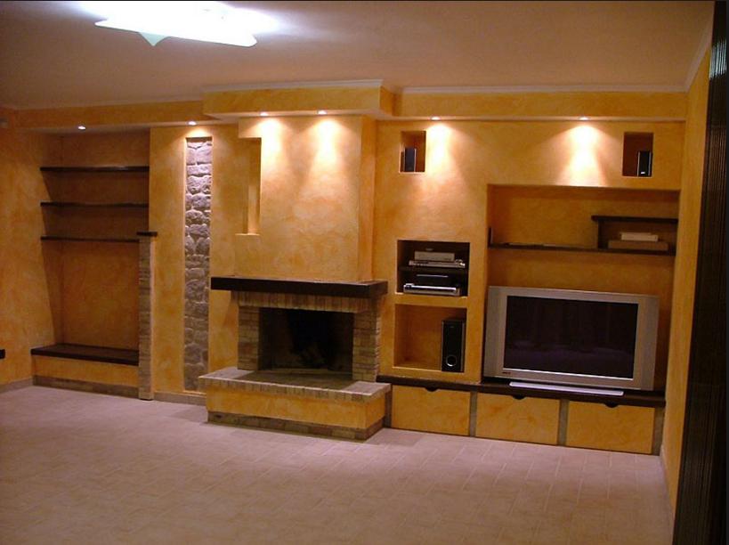 Realizza in casa pareti attrezzate in cartongesso e legno for Pareti particolari in cartongesso