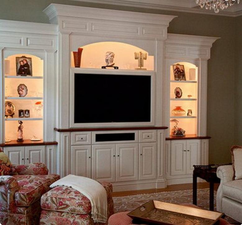 Le pareti attrezzate classiche bianche si adattano ad ogni stile - Parete attrezzate classiche ...