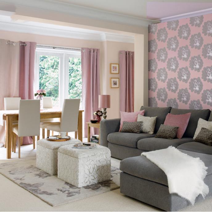 Come abbinare le pareti color tortora e lilla in una casa shabby