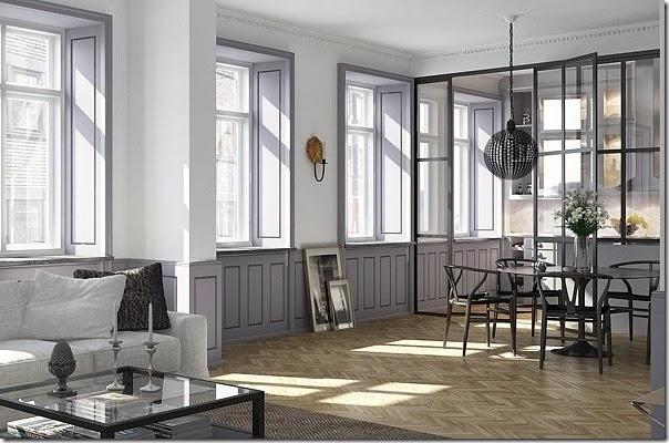 Dividi gli spazi di casa con pareti divisorie in vetro for Divisori ambienti ikea