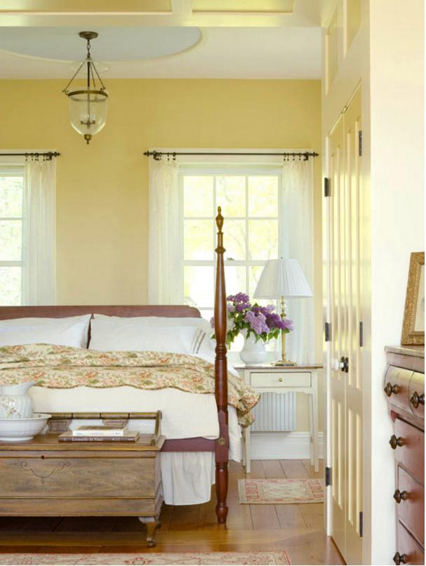 Pareti Gialle Per Cucina : Pareti gialle in camera da letto per un atmosfera shabby