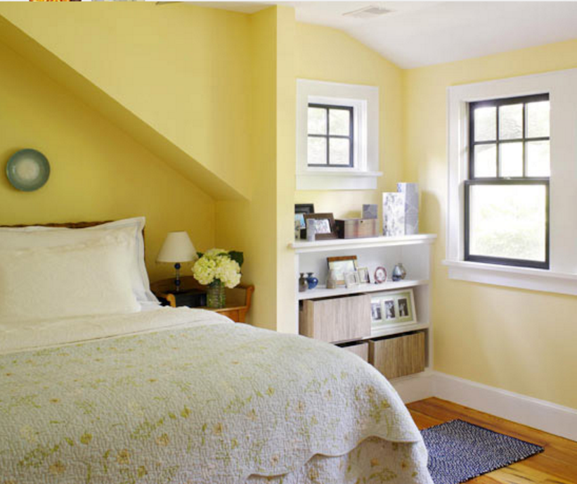 Western Bedroom Paint Colors Yellow Bedroom Colour Schemes Houzz Bedrooms For Girls Bedroom Decor Grey And White: Pareti Gialle In Camera Da Letto Per Un'atmosfera Shabby
