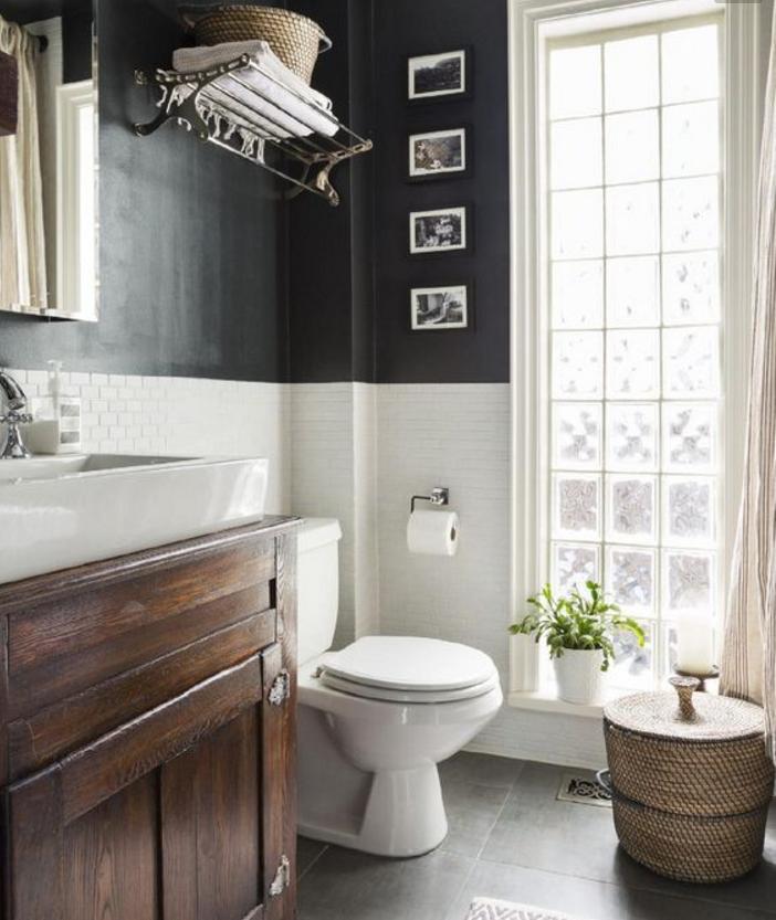 Pareti grigie e bianche anche nella tua casa shabby chic - Bagno in francese ...