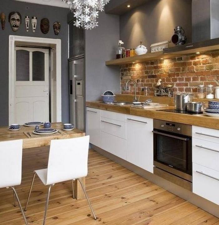 Le pareti grigie in cucina sono in tono con lo shabby chic - Colore muri cucina ...