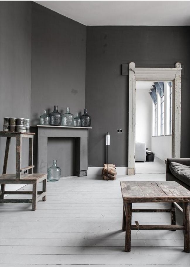 Pareti Gialle E Grigie : Pareti grigie e bianche anche nella tua casa shabby chic