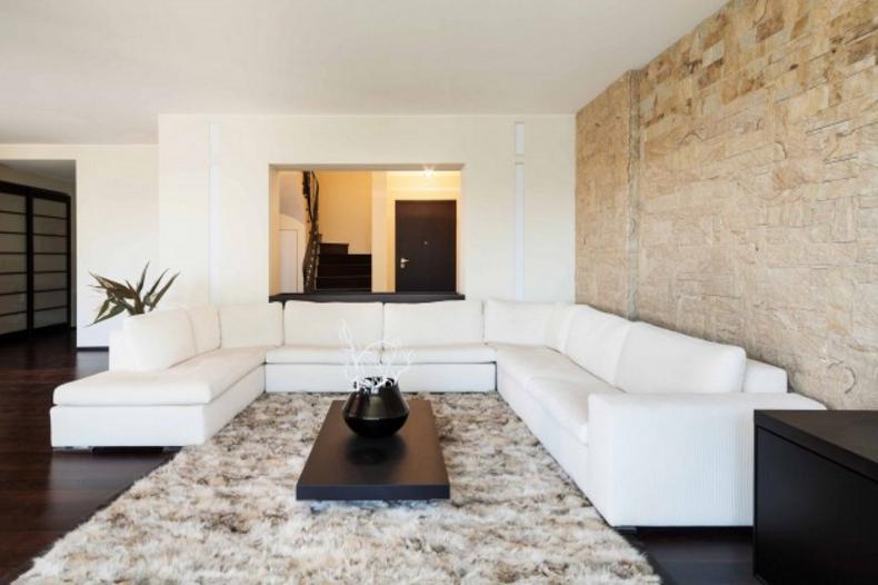scegli le pareti moderne in pietra per gli ambienti pi