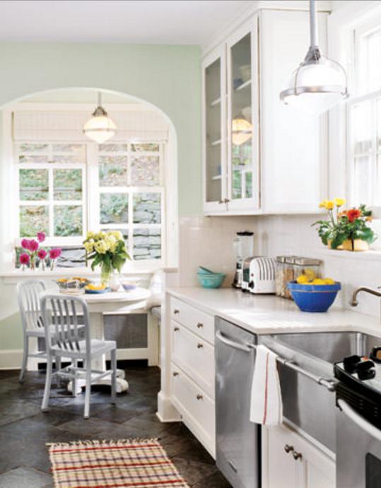 Pareti cucina fucsia : Le pareti verdi in cucina sono molto di tendenza