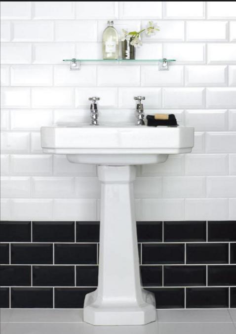 Scegli le piastrelle diamantate per il bagno old style for Piastrelle bagno bianche lucide