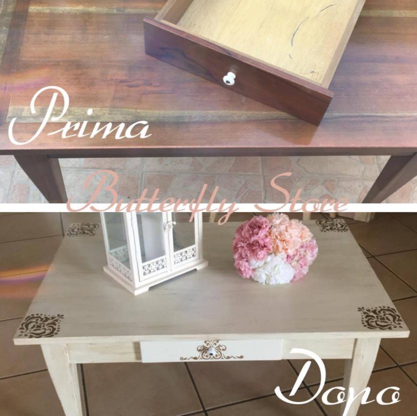tavolino prima e dopo