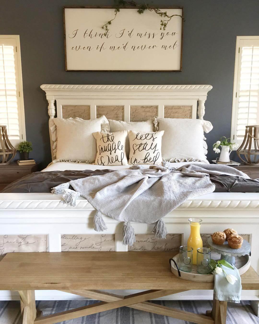 21 modi per arredare la camera da letto in stile shabby (foto) - Come Decorare Le Pareti Della Camera Da Letto