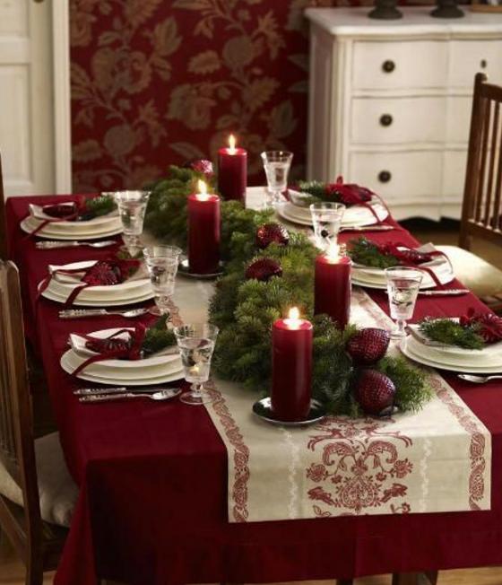 Runner natalizi fai da te la tavola perfetta per le - Runner per tavolo ...