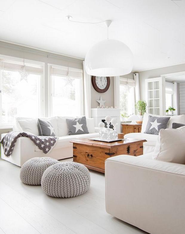 un salotto moderno bianco in stile shabby chic la perfezione ForSalotto Moderno Bianco