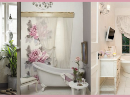 tende bagno shabby chic