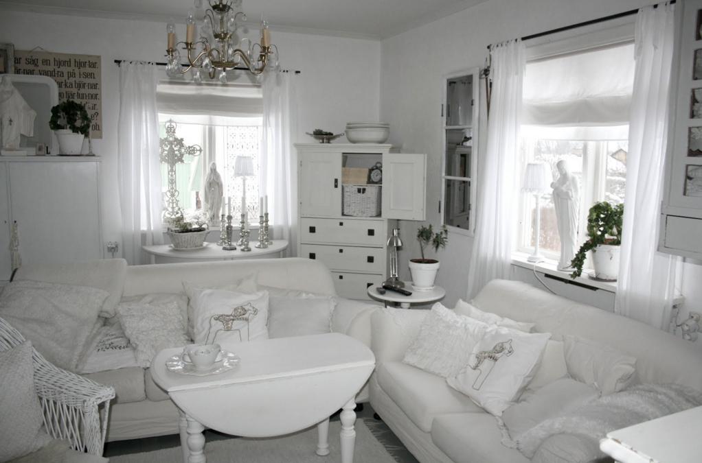 questa è la casa di linda prima e dopo i lavori shabby - Soggiorno Total White