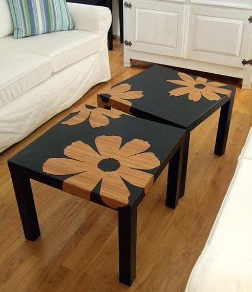 Come trasformare in stile shabby il tavolino lack dell 39 ikea foto - Trasformare mobili ikea ...