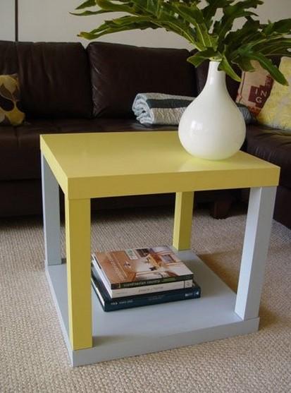 Come trasformare in stile shabby il tavolino lack dell for Tavolino salotto ikea