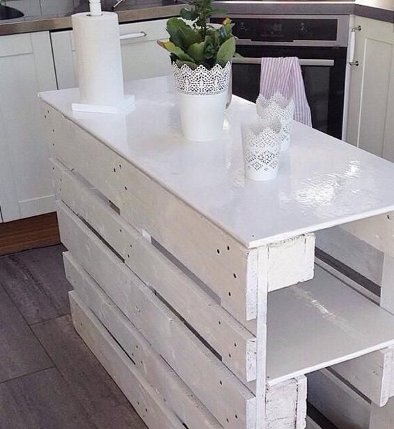 Per i tavoli con bancali in legno usa solo materiali di - Mobili con bancali di legno ...