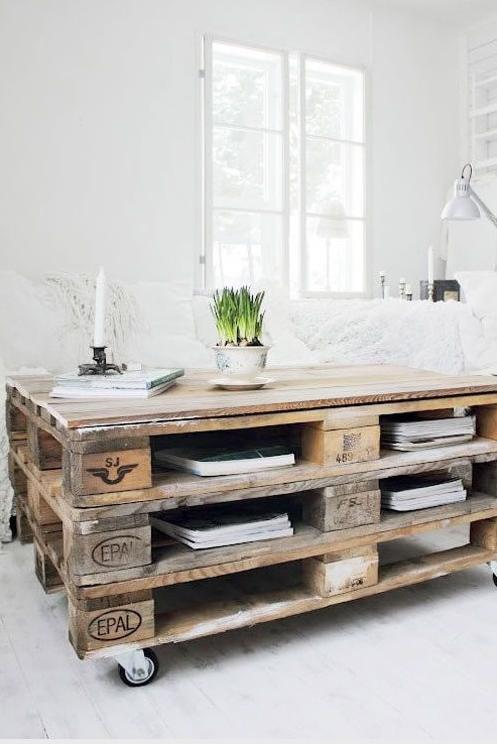 Tavoli con bancali di legno idee di design nella vostra casa - Mobili con legno di recupero ...
