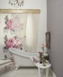 tende da bagno shabby chic a fiori