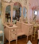 Toilette da camera rosa