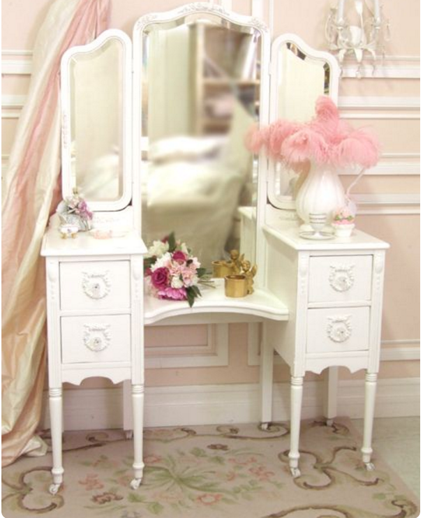 toilette da camera in puro stile shabby chic