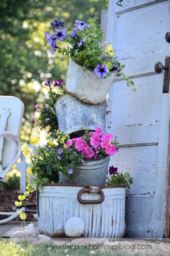 Un giardino da sogno in stile shabby chic - Angoli di giardino ...