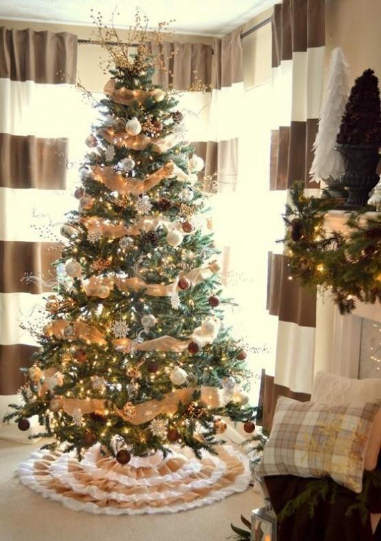 Foto Di Alberi Di Natale In Casa.Decorare La Casa Di Campagna Per Natale Con Il Rustico Chic