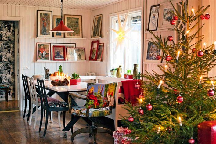 Gli interni delle case scandinave arredate per natale for Foto di case arredate