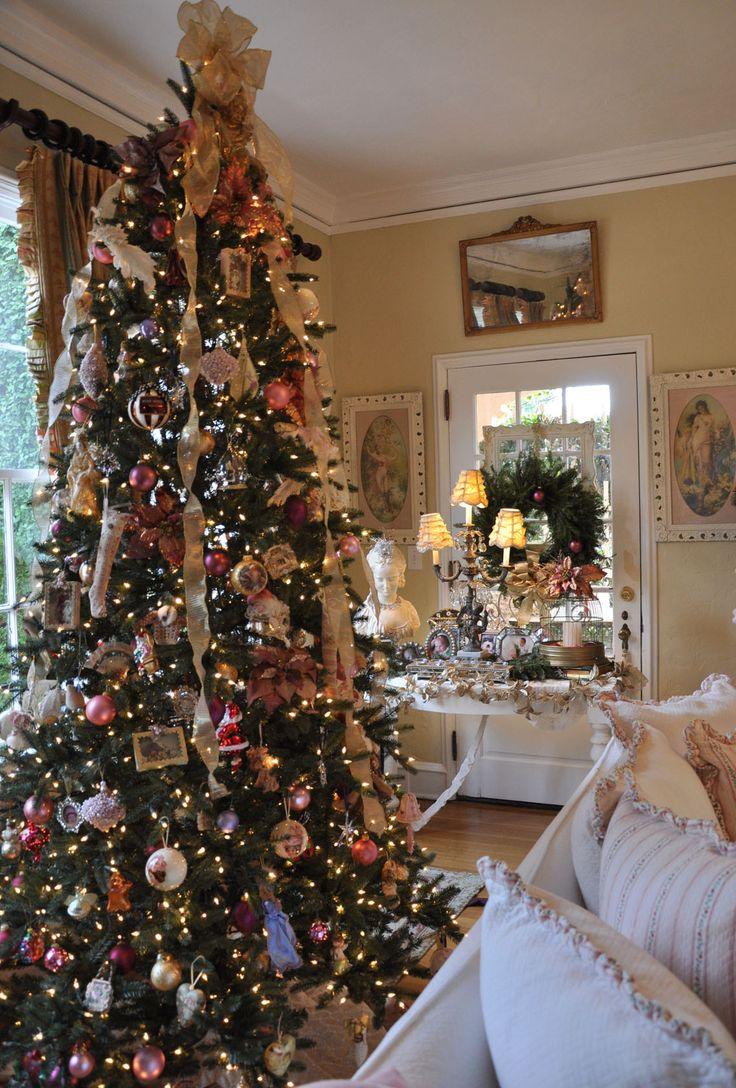 Albero Natale Decorato Rosso albero di natale shabby: ecco come addobbarlo