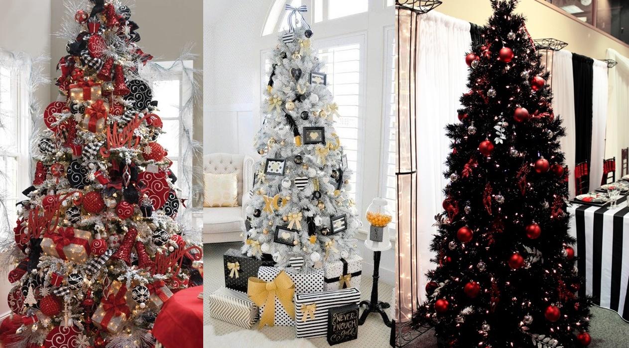Albero Di Natale Shabby Chic Rosso.Albero Di Natale Nero L Ultima Tendenza Dello Shabby Chic