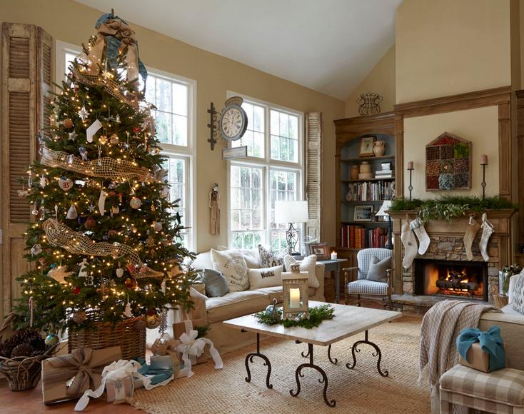 Foto Di Case Addobbate Per Natale.Natale Shabby Chic In Case Da Sogno Foto Delle Decorazioni
