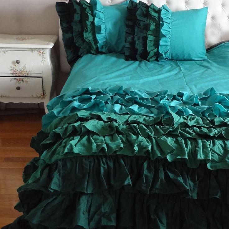 Piumone Matrimoniale Verde.Piumoni Matrimoniali Per Un Letto Shabby Chic 25 Modelli Da Sogno