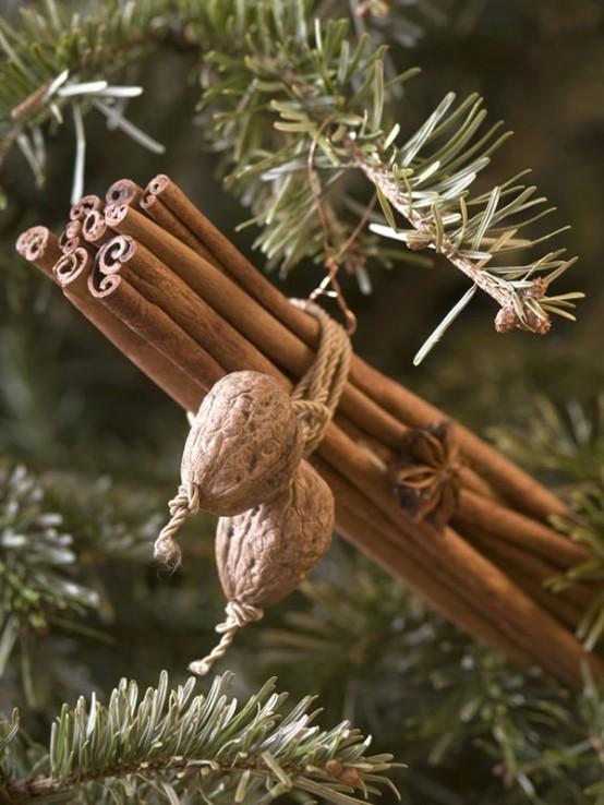 Segnaposto Natalizi Con Bastoncini Di Cannella.Decorazioni Aromatiche Alla Cannella Per Un Natale Shabby
